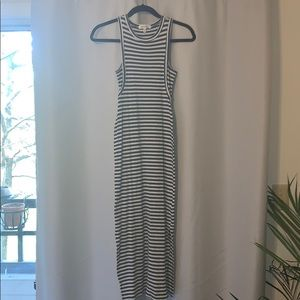 Striped Fitted Maxi Dress